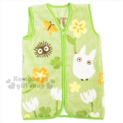 〔小禮堂〕宮崎駿 Totoro 龍貓 背心毯《L.綠.花朵.幸運草.小煤炭.朋友》入冬保暖好夥伴