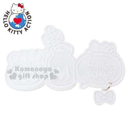 〔小禮堂〕Hello KItty 造型髮夾《白.魚缸.牛奶.對話框.蝴蝶結吊飾》髮飾.銀色聖誕系列