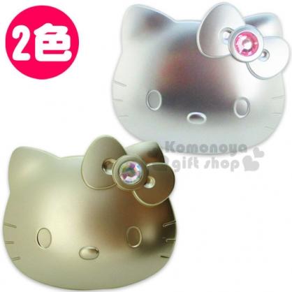 〔小禮堂〕Hello Kitty 造型隨身鏡《兩款.大臉.寶石蝴蝶結》
