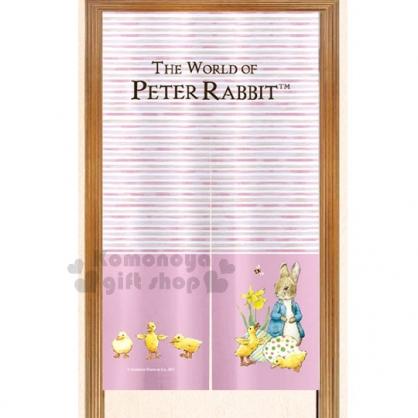 〔小禮堂〕Peter Rabbit 彼得兔 彩印長門簾《粉條紋.彼得小兔.小鴨》英式鄉村風情