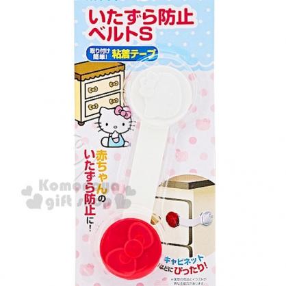 〔小禮堂〕Hello Kitty 抽屜安全扣《紅白.大臉》銅板小物