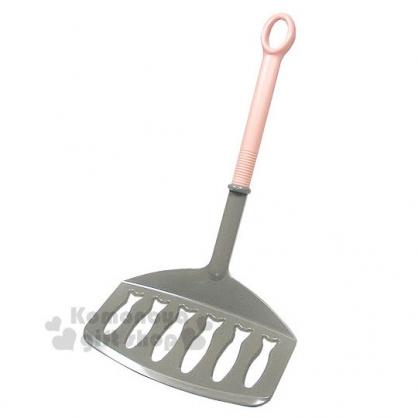 〔小禮堂〕INOMATA 日製煎魚鍋鏟《灰粉.扁平型》廚房好幫手