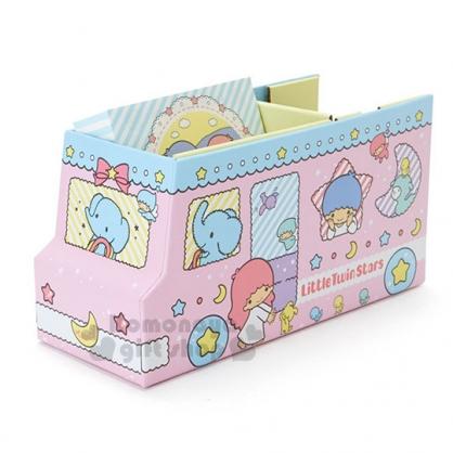 〔小禮堂〕雙子星 紙膠帶便條本組《粉藍.公車.多朋友》