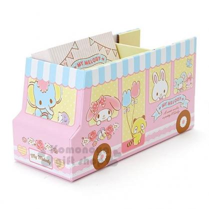 〔小禮堂〕美樂蒂 紙膠帶便條本組《粉藍白.公車.多角色》