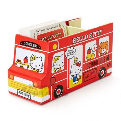 〔小禮堂〕Hello Kitty 紙膠帶便條本組《紅.黃.公車.多角色》