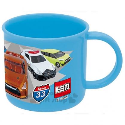 〔小禮堂〕TOMICA小汽車 日製塑膠小水杯《藍.跑車.警車.卡車.200ml》