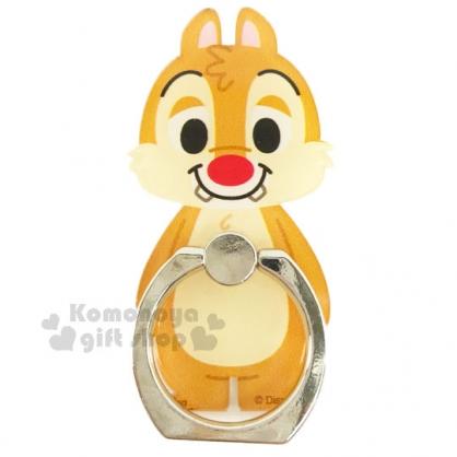 〔小禮堂〕迪士尼 奇奇蒂蒂 造型壓克力手機指環架 《土黃.蒂蒂.站姿.橘盒裝》可360度旋轉