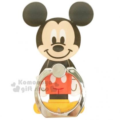 〔小禮堂〕迪士尼 米奇 造型壓克力手機指環架 《黑紅.站姿.橘盒裝》可360度旋轉