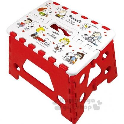 〔小禮堂〕史努比 攜帶式折疊椅《白紅.查理布朗.露西.多角色》提把設計.方便攜帶