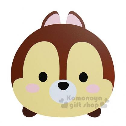 〔小禮堂〕Tsum Tsum 奇奇 造型抽屜收納盒《咖.圓臉.方形》