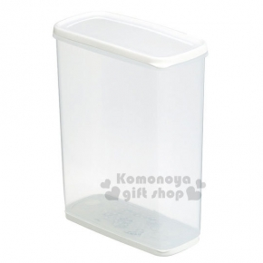 〔小禮堂〕INOMATA 日製保鮮盒《透明.高.圓角方形》附乾燥劑.6L