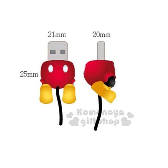 〔小禮堂〕迪士尼 米奇 Apple Lightning USB 造型傳輸線《紅褲.黃鞋》屁屁造型