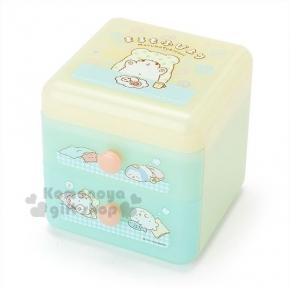 〔小禮堂〕抹布熊 2抽多功能收納盒《黃藍.餐桌.點心.海獅.企鵝》精美盒裝