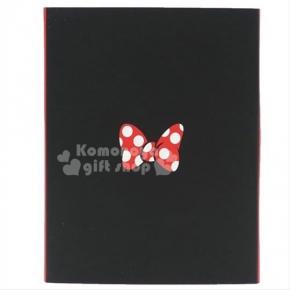 〔小禮堂〕迪士尼 米妮 自黏便利貼《黑紅.點點蝴蝶結》