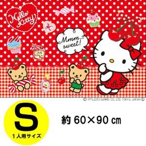 〔小禮堂〕Hello Kitty 野餐墊《紅.點點.甜點.櫻桃》單人尺寸設計