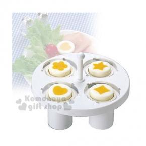 〔小禮堂〕日本製 Arnest 造型水煮蛋模型《白.花.心.星.鑽石》DIY卡通便當