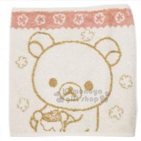 〔小禮堂〕拉拉熊 棉質圍肚《米.大臉.小花》