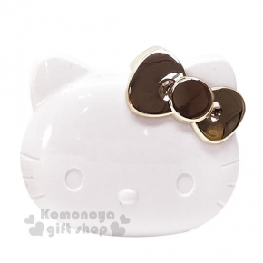 〔小禮堂〕Hello Kitty 電動按摩梳《白金.大臉.盒裝》