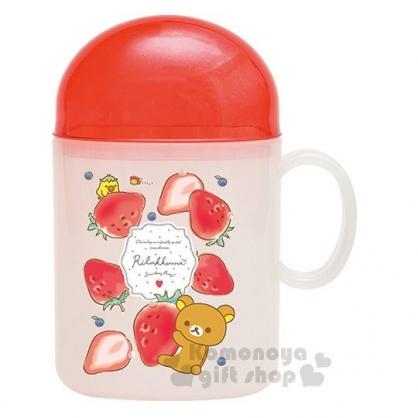 〔小禮堂〕拉拉熊 日製旅行牙刷組《紅白.草莓.滿版.小雞》草莓派對系列