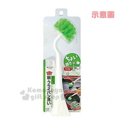 〔小禮堂〕MAMEITA 日製鍋具專用圓刷《白柄.綠刷頭》平底鍋專用