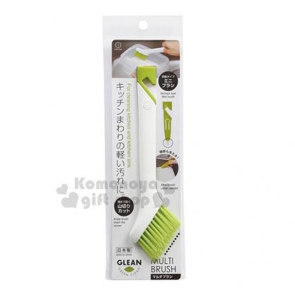 〔小禮堂〕KOKUBO小久保工業所 日製V型刷《綠.白長柄》清潔刷.萬用刷