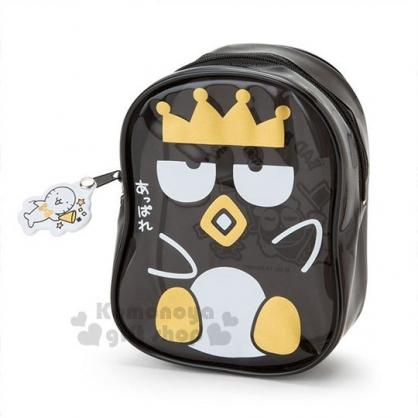 〔小禮堂〕酷企鵝 造型防水化妝包《黑.坐姿》收納包.萬用包.國王企鵝系列