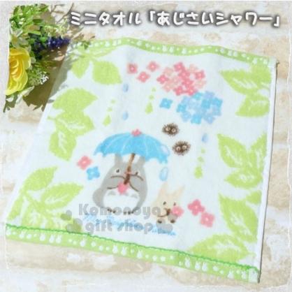 〔小禮堂〕宮崎駿 Totoro龍貓 小方巾《白.花.綠邊.25x25cm》出遊.自家都適用