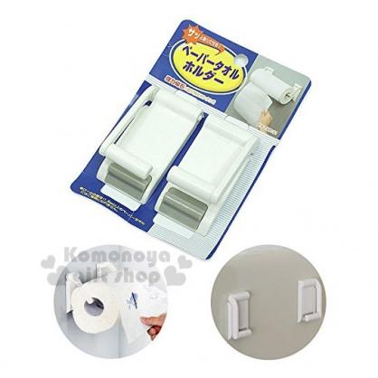 〔小禮堂〕磁鐵式捲筒紙巾架《白》磁鐵收納架