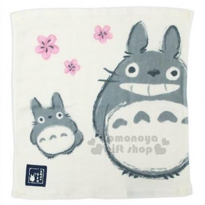 〔小禮堂〕宮崎駿 Totoro龍貓 紗布方型毛巾《米.站姿.微笑》34x36cm