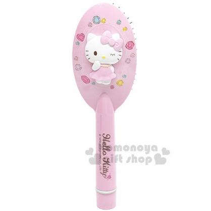 〔小禮堂〕Hello Kitty 電動按摩梳《粉.立體圖.盒裝》手握梳