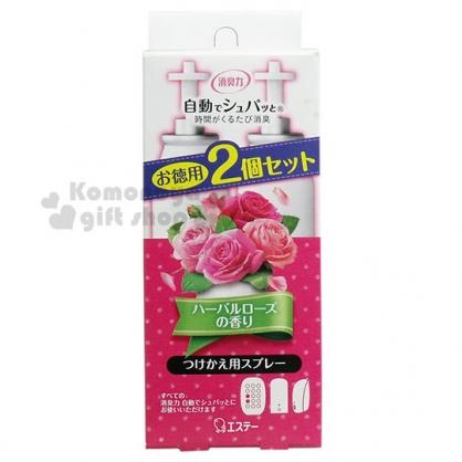 〔小禮堂〕雞仔牌 除臭機補充瓶《2入.桃粉》39mlx2.玫瑰香味