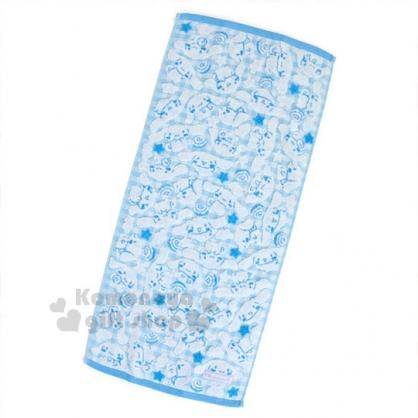 〔小禮堂〕大耳狗 純棉長毛巾《藍.滿版.肉桂捲.格紋》76x34cm.無撚系毛巾