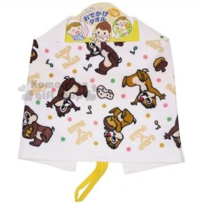 〔小禮堂〕迪士尼 奇奇蒂蒂 純棉兒童擦手巾《白.坐姿.點點.滿版》擦嘴巾.圍兜兜.可掛