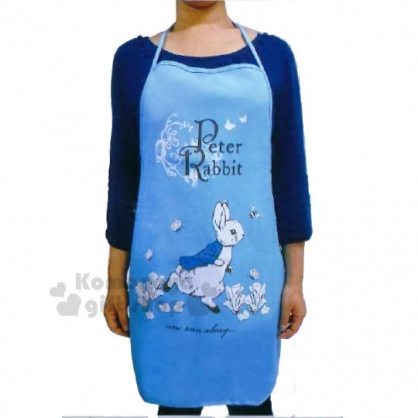 〔小禮堂〕彼得兔 尼龍圍裙《藍.蝴蝶.跑步》成人女性適穿