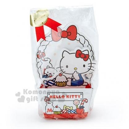 〔小禮堂〕Hello Kitty 日製造型便條紙附紙盒《紅白.坐姿.蛋糕》