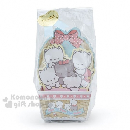 〔小禮堂〕許願貓 日製造型便條紙附紙盒《藍黃.堆疊.奶瓶》