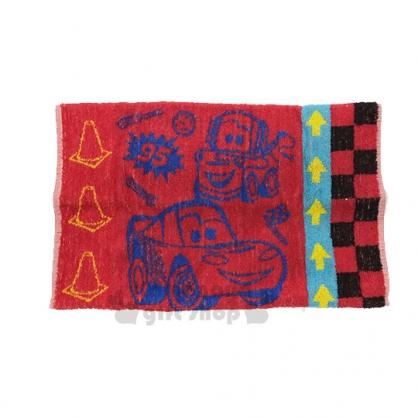 〔小禮堂〕迪士尼 Cars 閃電麥坤 棉質雙面枕頭套《紅藍.脫線》枕巾.枕套