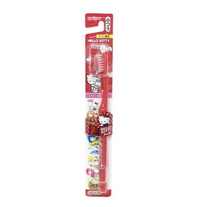 〔小禮堂〕Hello Kitty 日製兒童牙刷《紅.點點.愛心》