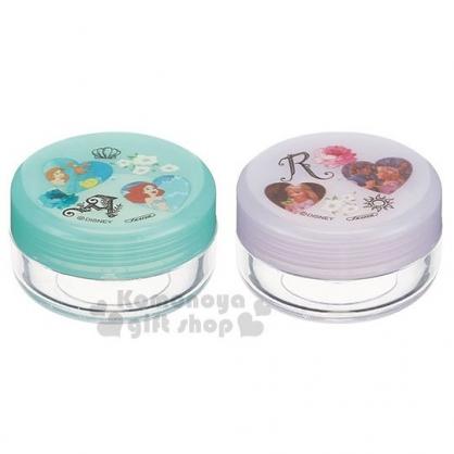 〔小禮堂〕迪士尼 公主 日製乳液盒組《2入.綠紫.愛心》空罐.旅行用