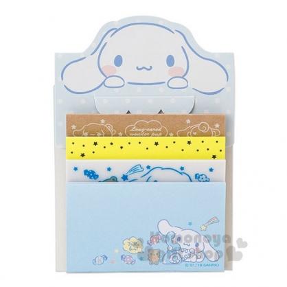 〔小禮堂〕大耳狗 日製自黏便利貼《藍.大臉.點點》便條紙.4種圖案.80張