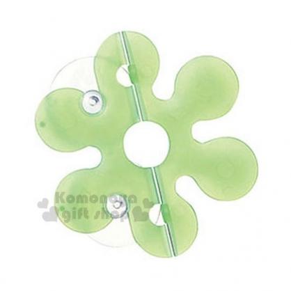〔小禮堂〕Marna 日製花瓣型吸盤式牙刷收納架《綠.盒裝》牙刷架