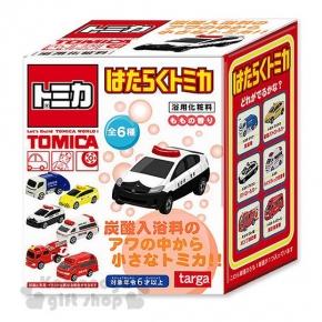 〔小禮堂〕TOMICA小汽車 造型沐浴球《6款.隨機.多車種.紅白盒裝》入浴劑.泡澡劑