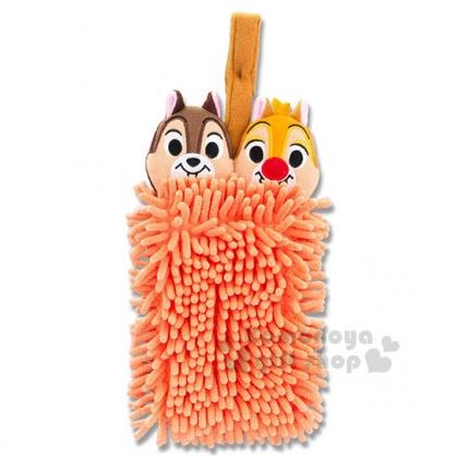 〔小禮堂〕迪士尼 奇奇蒂蒂 造型擦手巾《橘.大臉》超細纖維.吸水速乾