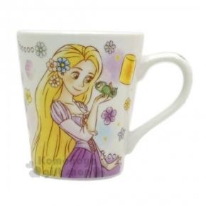 〔小禮堂〕迪士尼 長髮公主 陶瓷馬克杯《紫.變色龍》精美盒裝