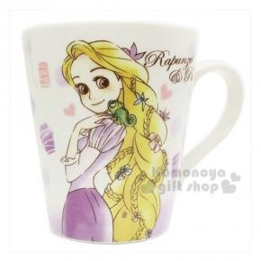 〔小禮堂〕迪士尼 長髮公主 樂佩 陶瓷馬克杯《紫.點點.變色龍》精美盒裝