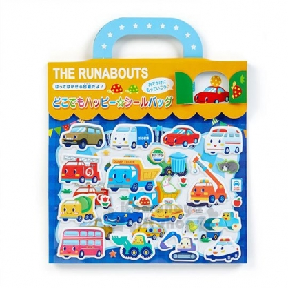〔小禮堂〕RB工程車 遊戲貼紙組《M.黃藍.地圖.提把》泡棉貼紙
