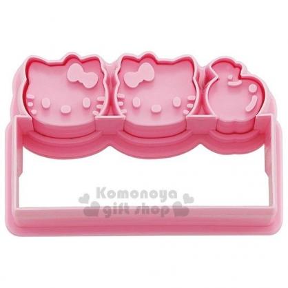 〔小禮堂〕Hello Kitty 日製造型蔬菜壓模《粉.大臉.泡殼》模具.烘焙工具