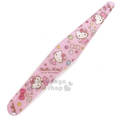 〔小禮堂〕Hello Kitty 海綿指甲銼刀《粉.寶石.站姿.滿版》美甲小物