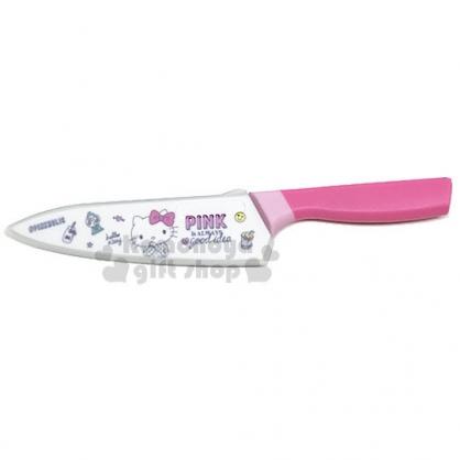 〔小禮堂〕Hello Kitty 主廚刀《粉白.PINK.糖果.笑臉》菜刀