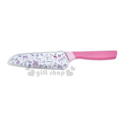 〔小禮堂〕Sanrio大集合 水果刀《粉白.PINK.滿版》萬用刀.菜刀